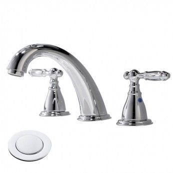 8 Inch 3 Hole Widespread Chrome Bathroom Faucet Polished Brushed Sink Vessel Lavatory Faucet With Pop Up Drain